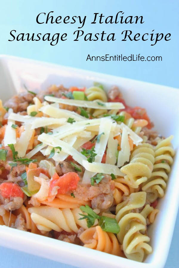 Italian Sausage Pasta Recipes  Cheesy Italian Sausage Pasta Recipe