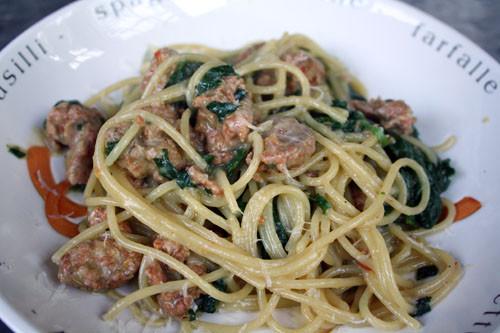 Italian Sausage Pasta Recipes  Dinner Tonight Italian Sausage and Spinach Pasta Recipe
