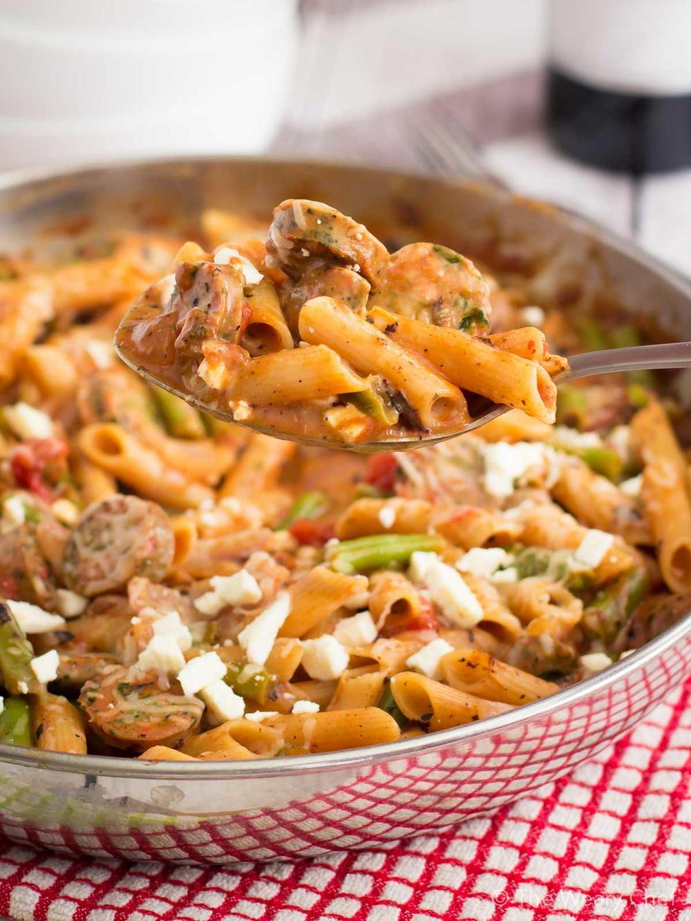 Italian Sausage Pasta Recipes  Easy Italian Sausage Pasta Skillet Recipe