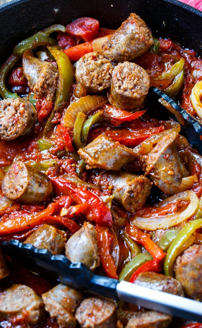 Italian Sausage Recipes  Italian Sausage and Peppers Spicy Southern Kitchen