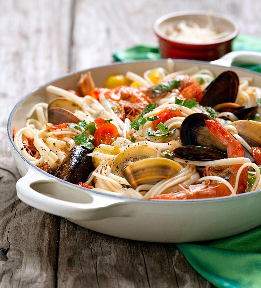 Italian Seafood Recipes  seafood pasta