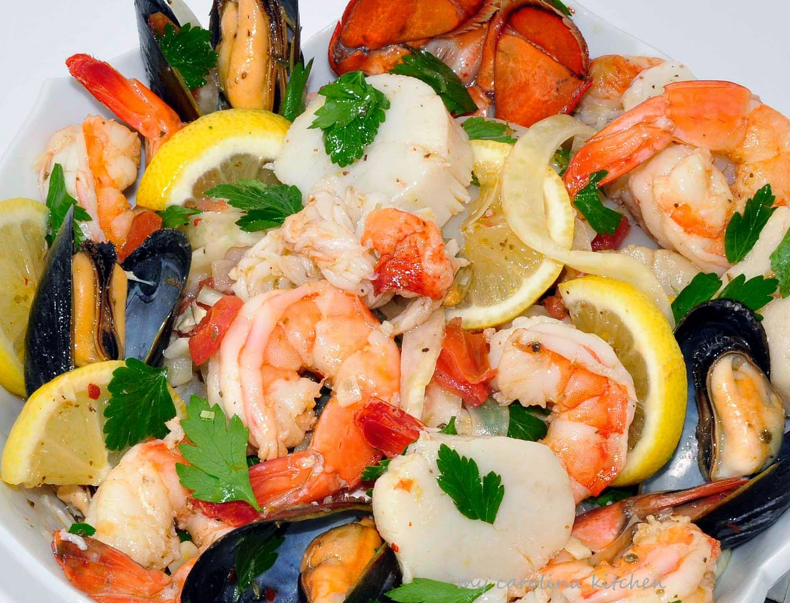 Italian Seafood Recipes  My Carolina Kitchen A Year in Review