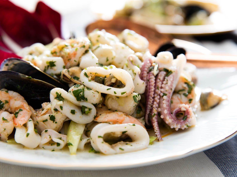 Italian Seafood Recipes  Italian Seafood Salad Insalata di Mare Recipe