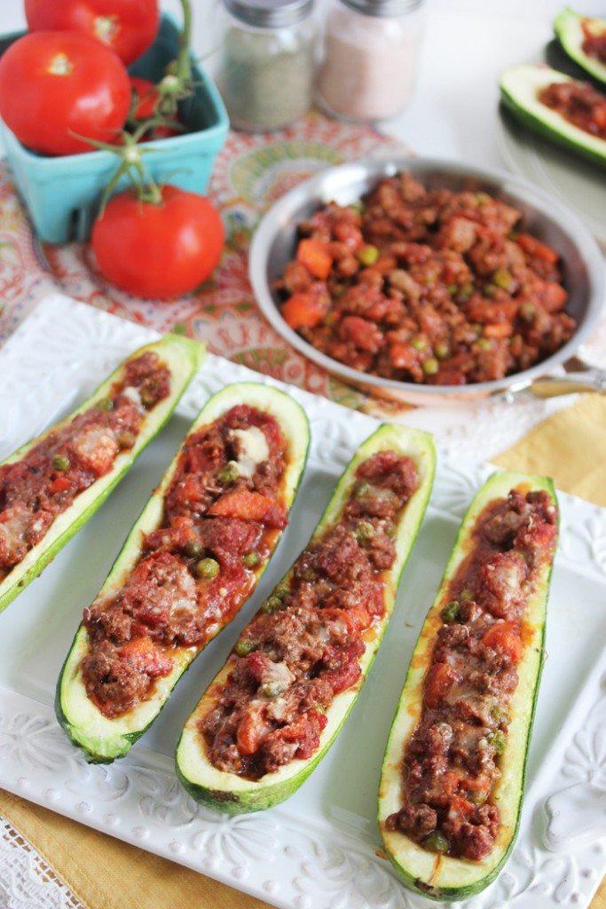 Italian Stuffed Zucchini Boats  Stuffed Zucchini Boats Lexi s Clean Kitchen