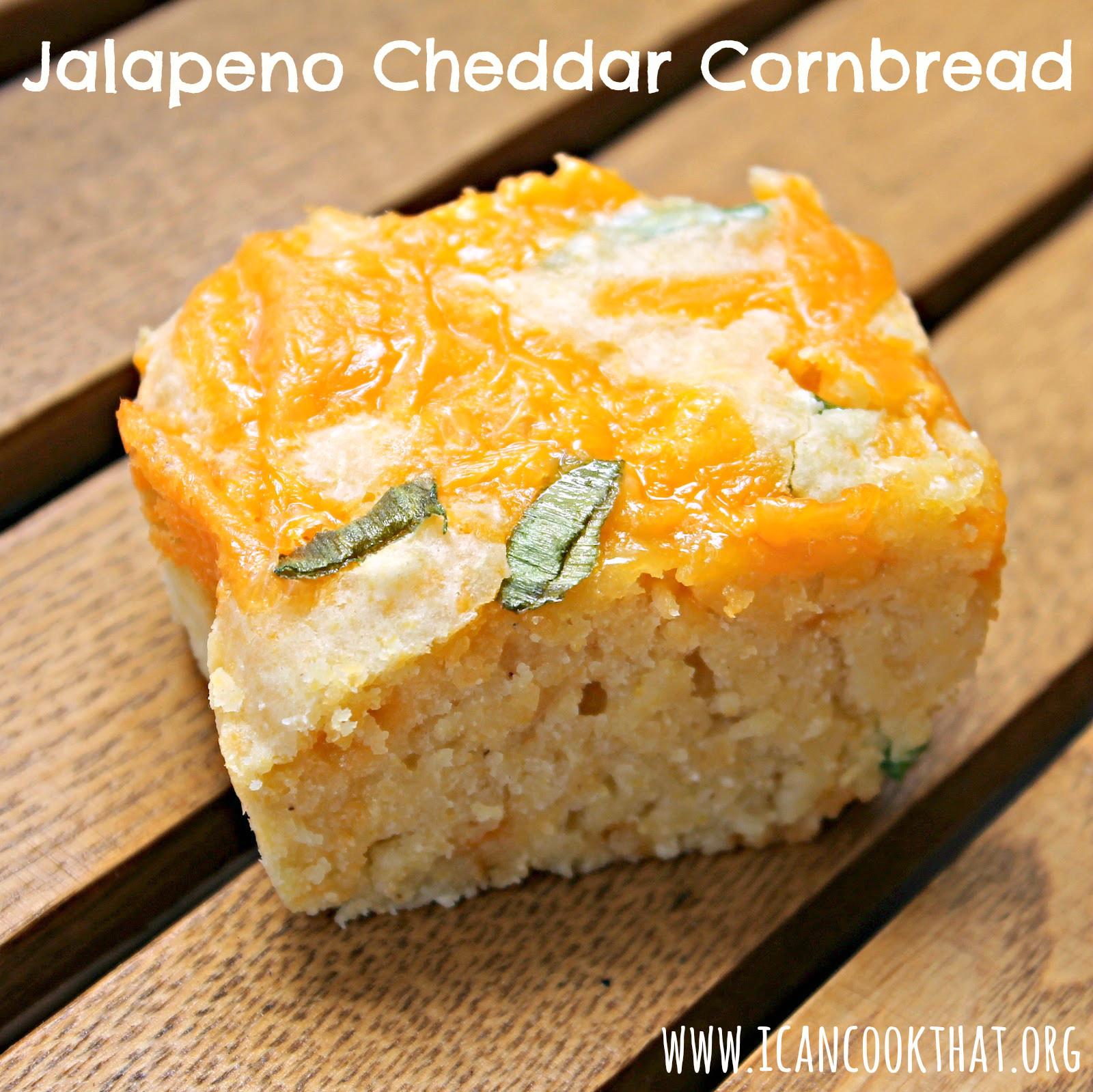 Jalapeno Cheese Cornbread  Jalapeno Cheddar Cornbread Recipe I Can Cook That