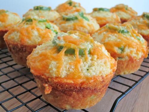 Jalapeno Cornbread Muffins  Jalapeno Cheddar Parmesan Cornbread Muffins