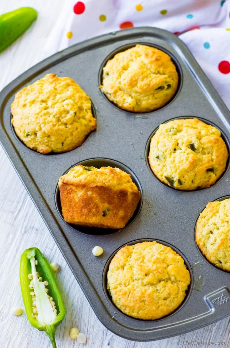 Jalapeno Cornbread Muffins  Jalapeno Cornbread Muffins Recipe