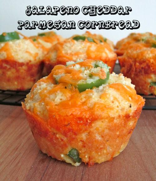 Jalapeno Cornbread Muffins  Jalapeno Cheddar Parmesan Cornbread Muffins – RV Happy Hour