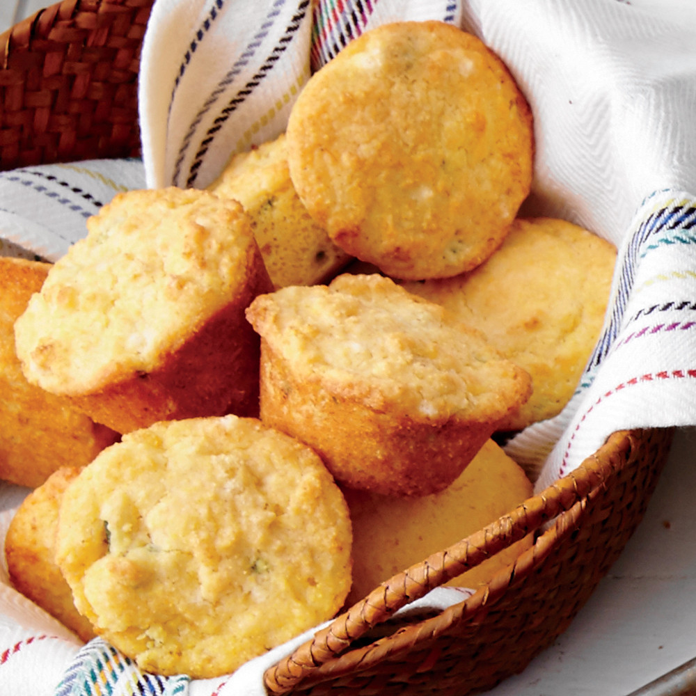 Jalapeno Cornbread Muffins  Jalapeño Cornbread Muffins Recipe
