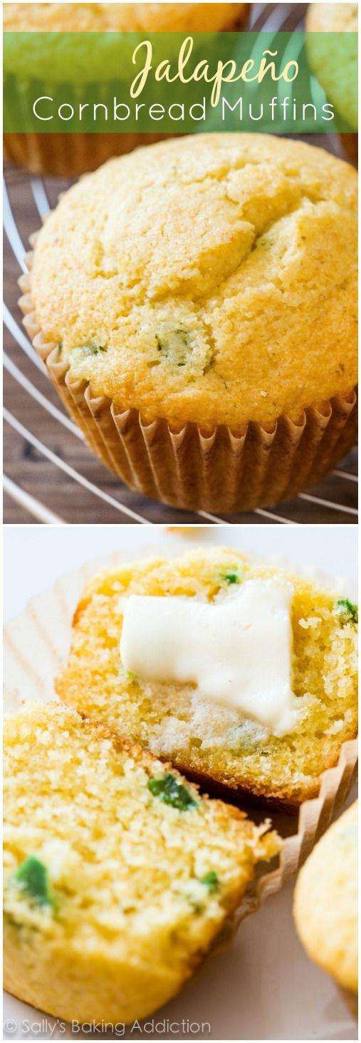 Jalapeno Cornbread Muffins  Jalapeño Cornbread Muffins Sallys Baking Addiction