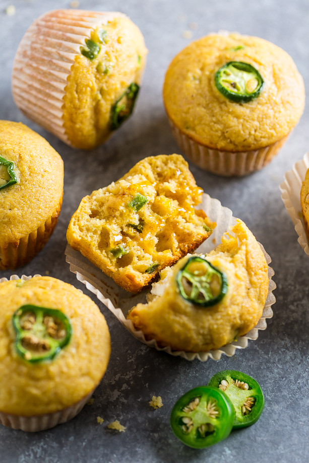 Jalapeno Cornbread Muffins  Honey Jalapeno Cornbread Muffins
