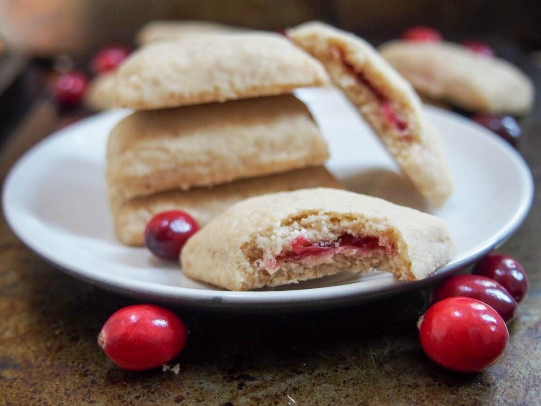 Jam Filled Cookies  Cranberry jam filled shortbread cookies Caroline s Cooking