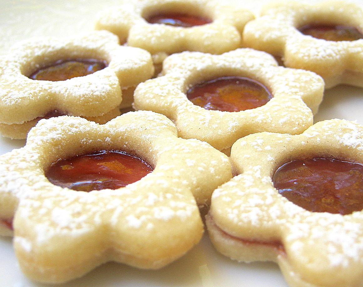 Jam Filled Cookies  Raspberry Linzer Cookies Jam Filled Flower by