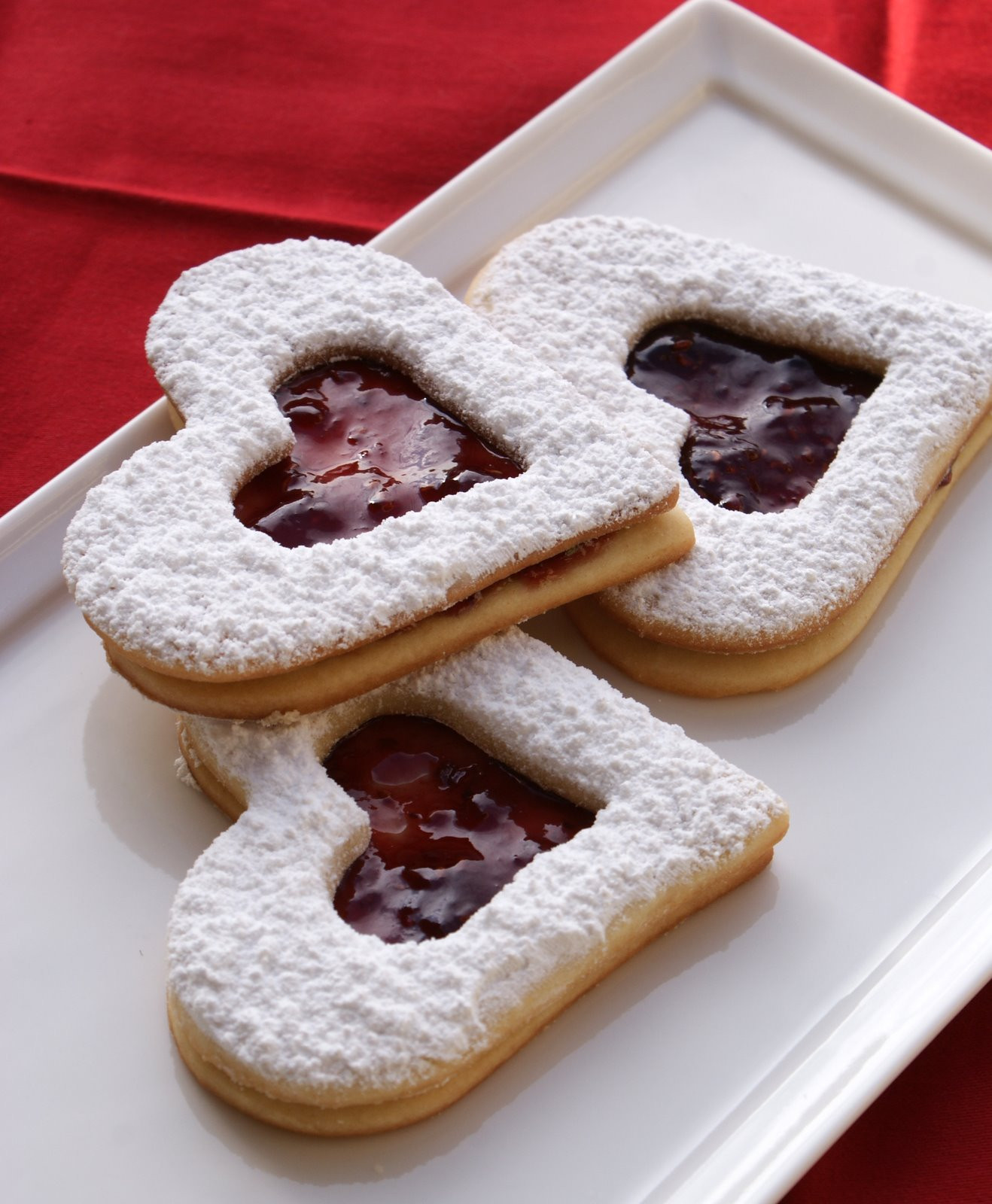 Jam Filled Cookies  Authentic Suburban Gourmet Raspberry Jam Filled Heart