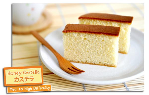 Japan Sponge Cake Recipe  Honey Castella Yummy Workshop