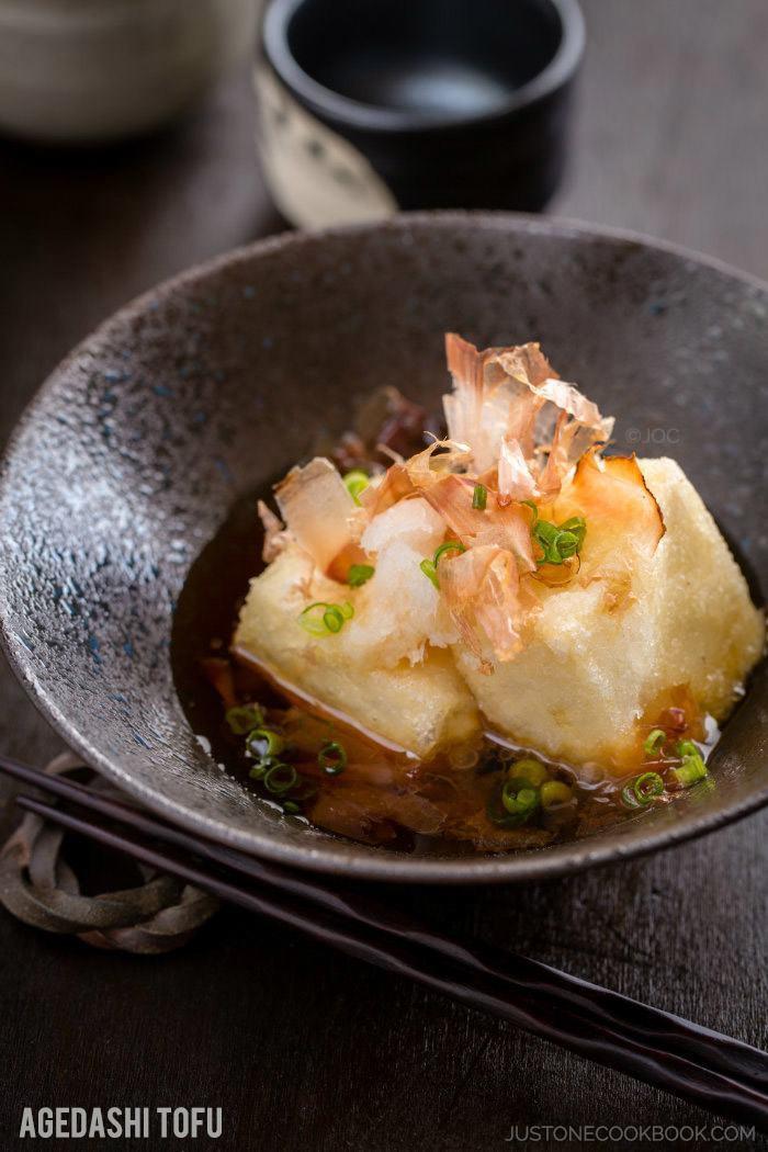 Japan Tofu Recipes  Agedashi Tofu 揚げ出し豆腐 • Just e Cookbook