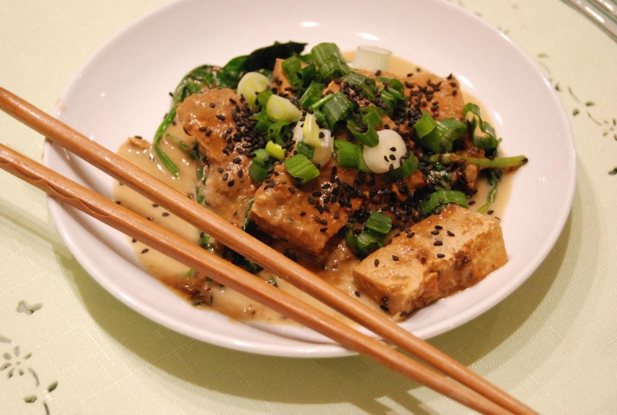 Japan Tofu Recipes  Japanese Style Slow Cooker Tofu [Vegan] e Green