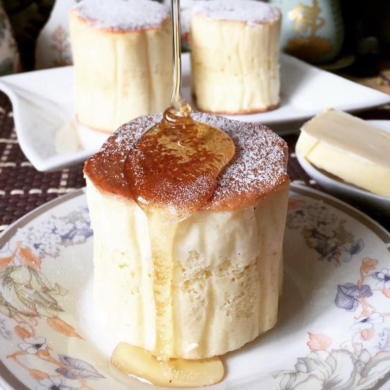 Japanese Fluffy Pancakes  Japanese Style Tall and Fluffy Pancake 日式厚班戟 厚いパンケーキ