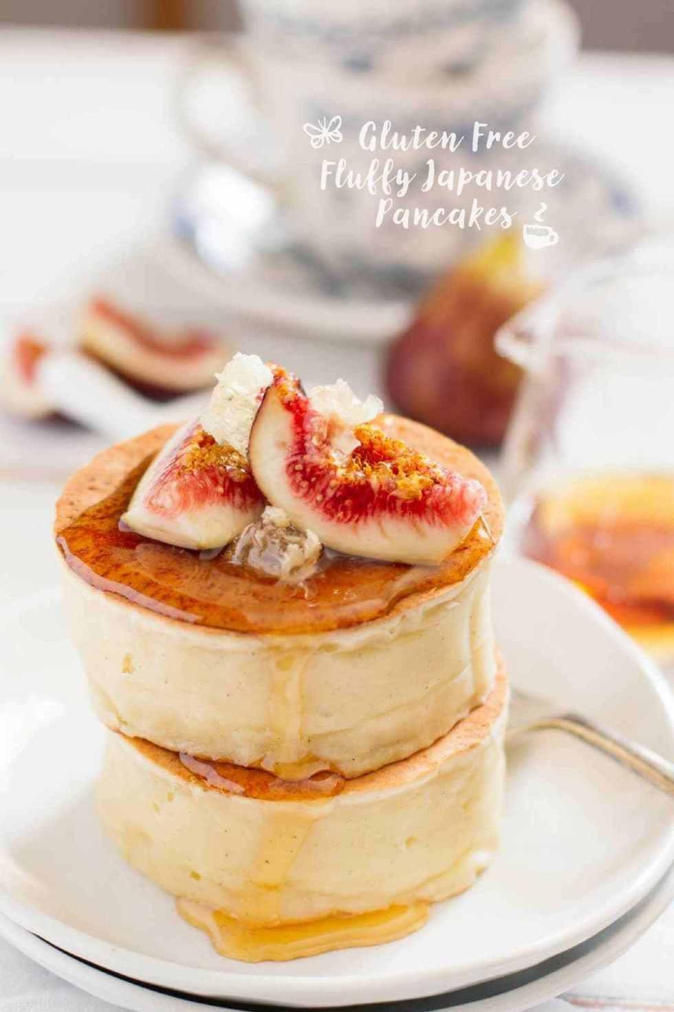 Japanese Fluffy Pancakes  Gluten Free Fluffy Japanese Pancakes グルテンフリー厚焼きホットケーキ