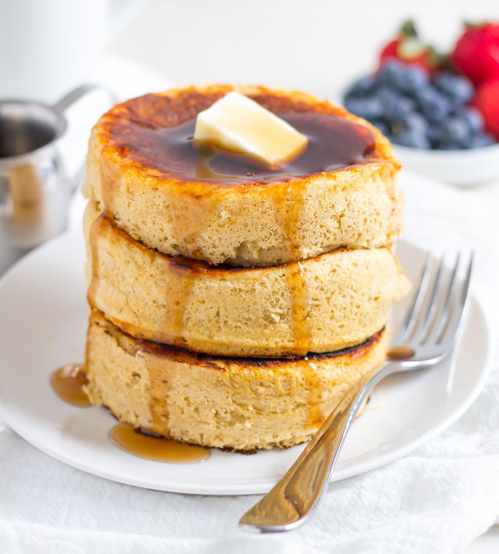 Japanese Fluffy Pancakes  Fluffy Japanese Protein Pancake Recipe