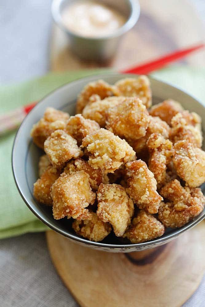 Japanese Fried Chicken  Chicken Karaage Sesame Fried Chicken