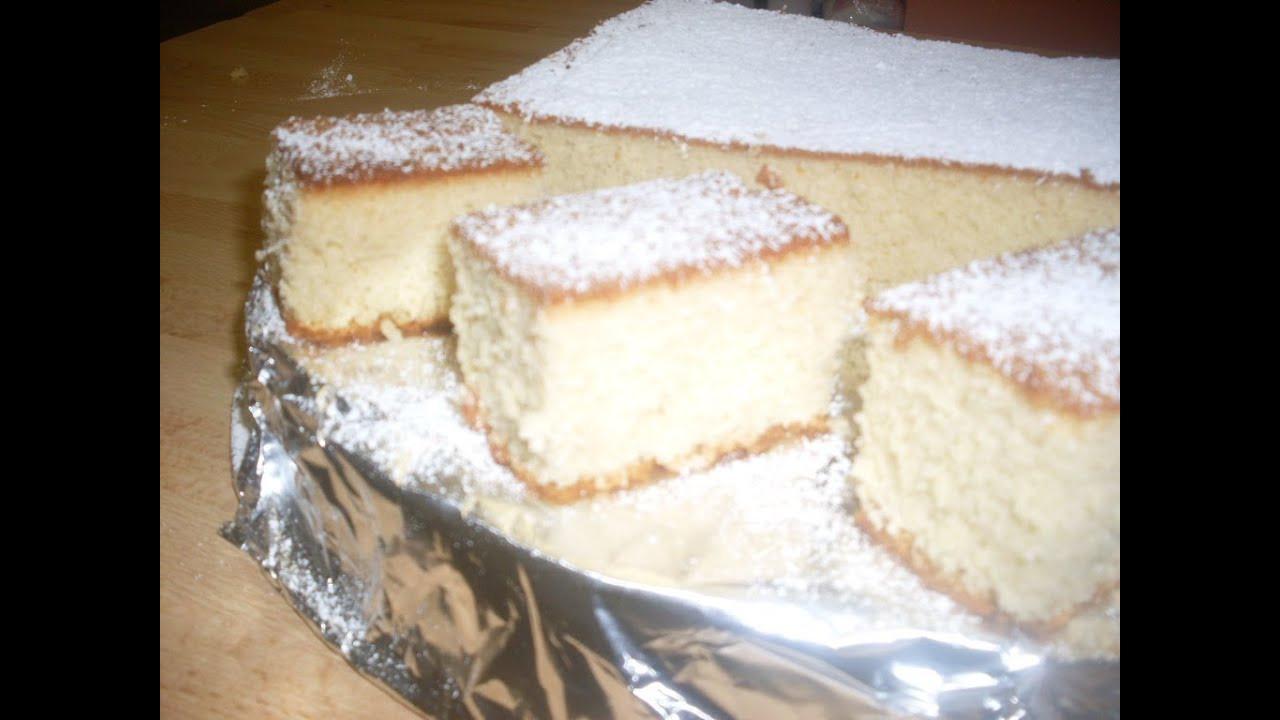 Japanese Sponge Cake Recipe  How a Japanese soft cake called KASUTERA Castella Sponge