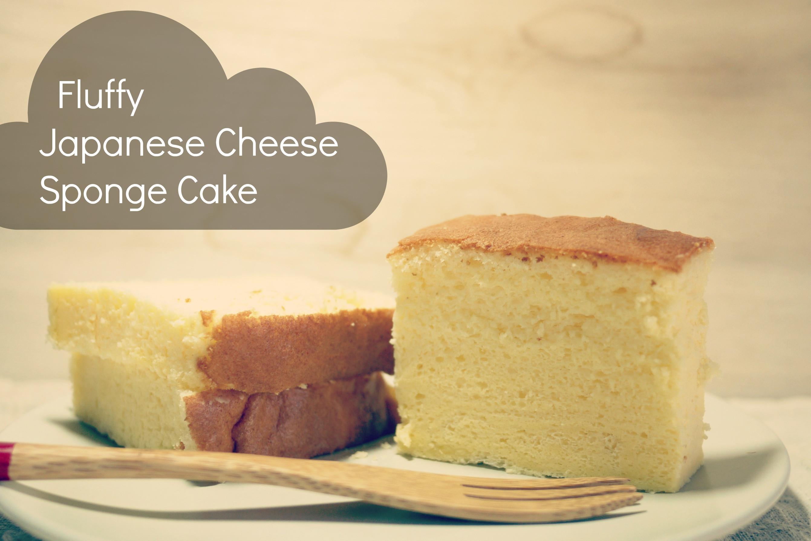 Japanese Sponge Cake Recipe  EAT Japanese Cheese Sponge Cake