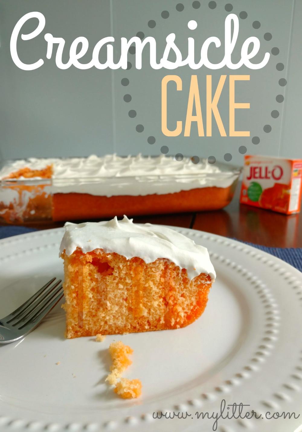 Jello Cake Recipe  Creamsicle Jello Cake MyLitter e Deal At A Time