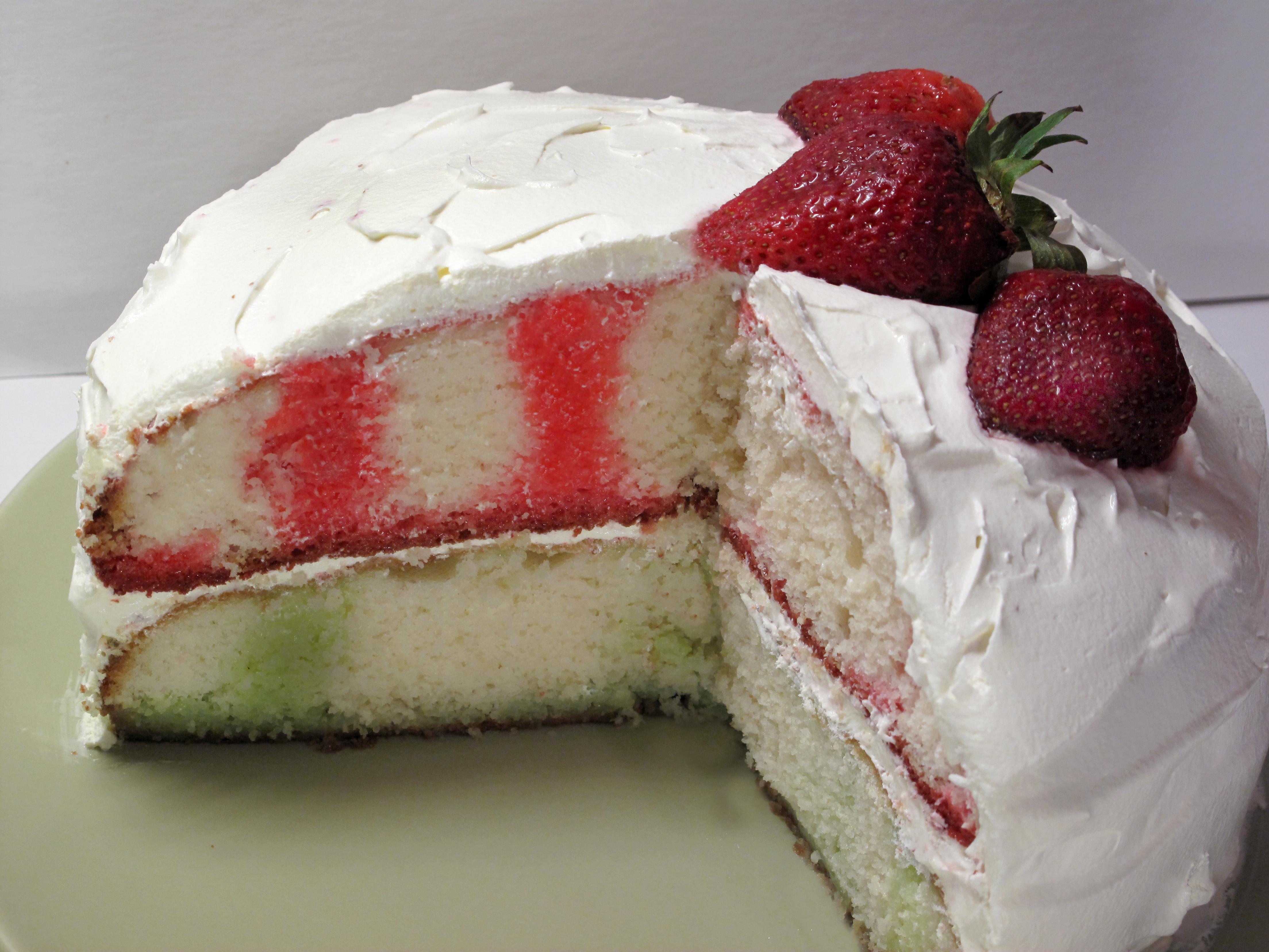 Jello Cake Recipe  Strawberry