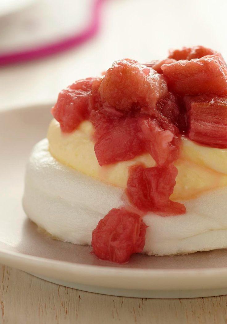 Jello Pudding Desserts  Rhubarb Vanilla Meringues — These Rhubarb Vanilla