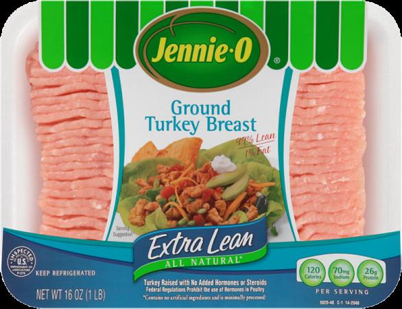 Jennie O Ground Turkey  Extra Lean Ground Turkey Nutrition Information