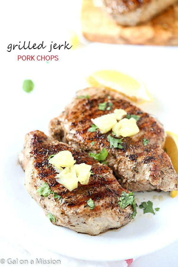 Jerk Pork Chops  Grilled Jerk Pork Chops Gal on a Mission
