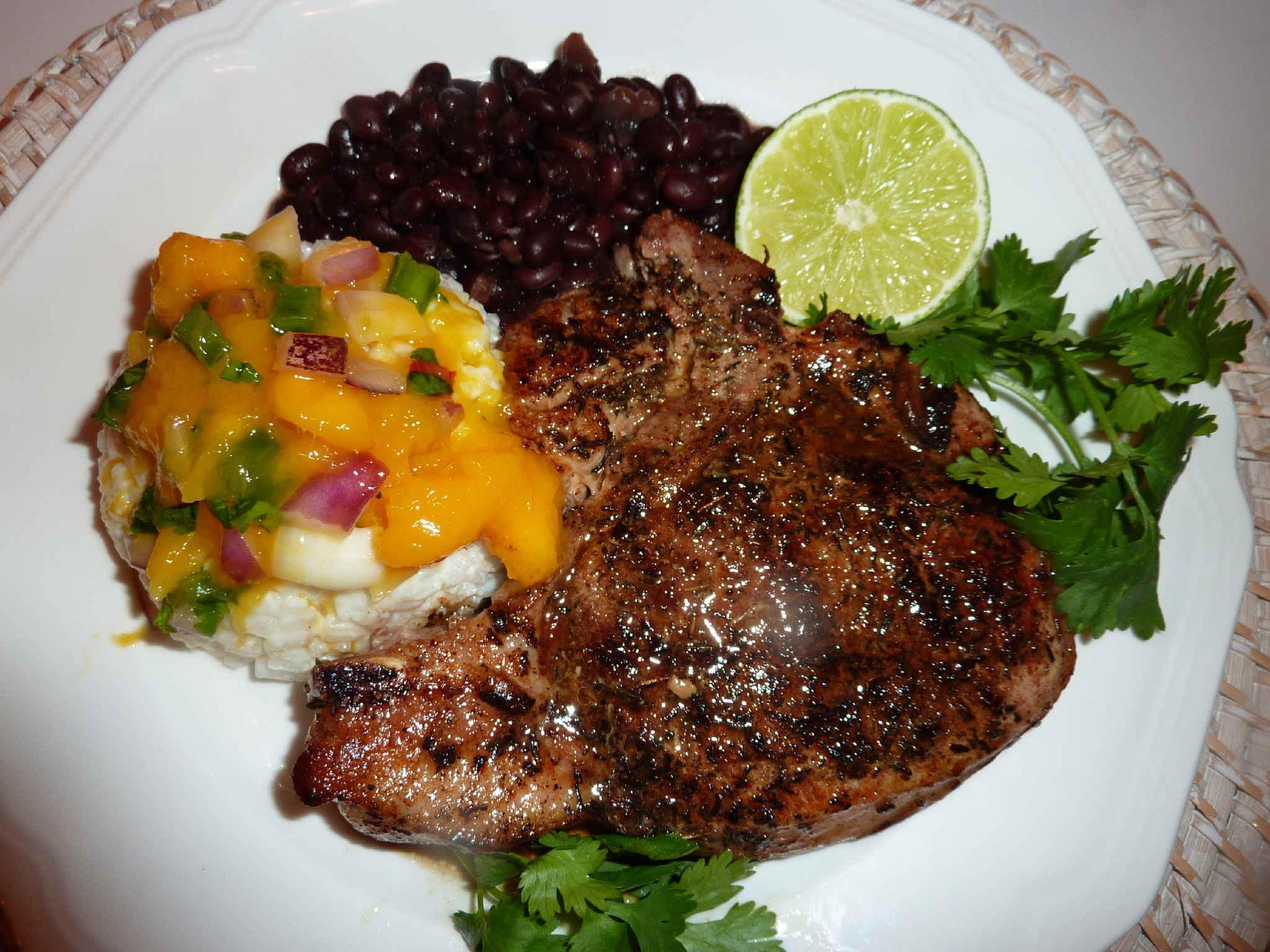 Jerk Pork Chops  Jamaican Jerk Pork Chops and Mango Salsa