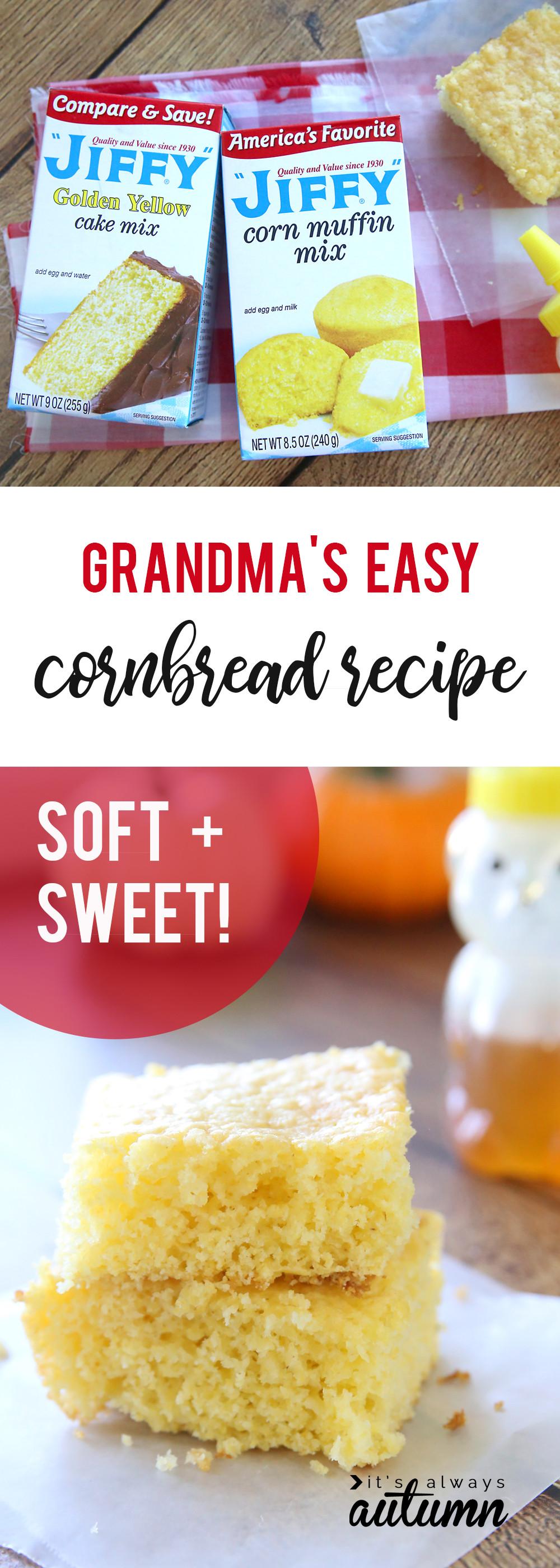 Jiffy Cornbread Mix Recipes  Quick easy sweet Jiffy cornbread recipe everyone will