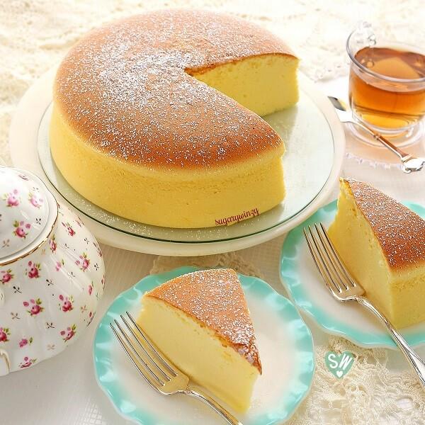 Jiggly Cheesecake Recipe  Jiggly Fluffy Cheesecake