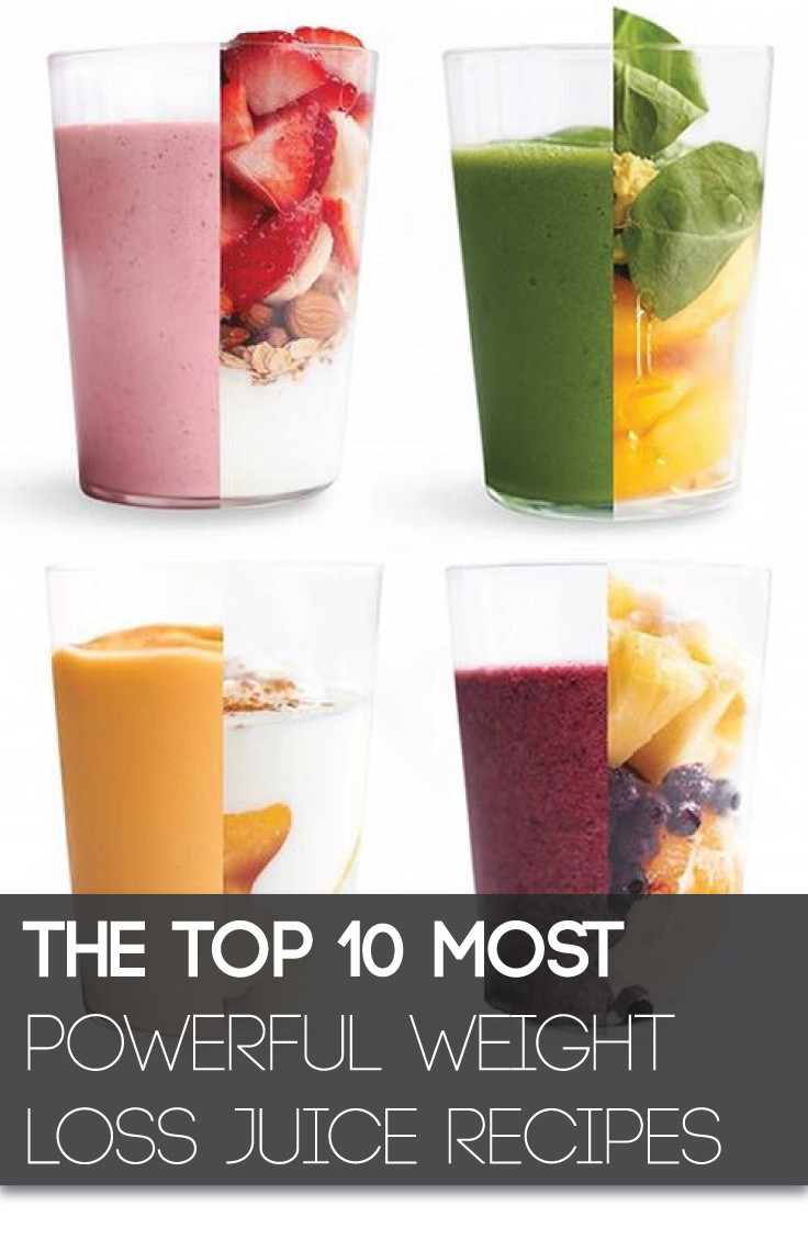 Juice Diet Recipes For Weight Loss  The Top 10 Most Powerful Weight Loss Juice Recipes