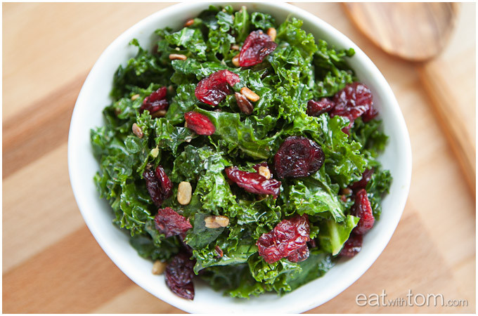Kale Dinner Recipes  Massaged Kale Salad with Sunflower Seeds and Dried