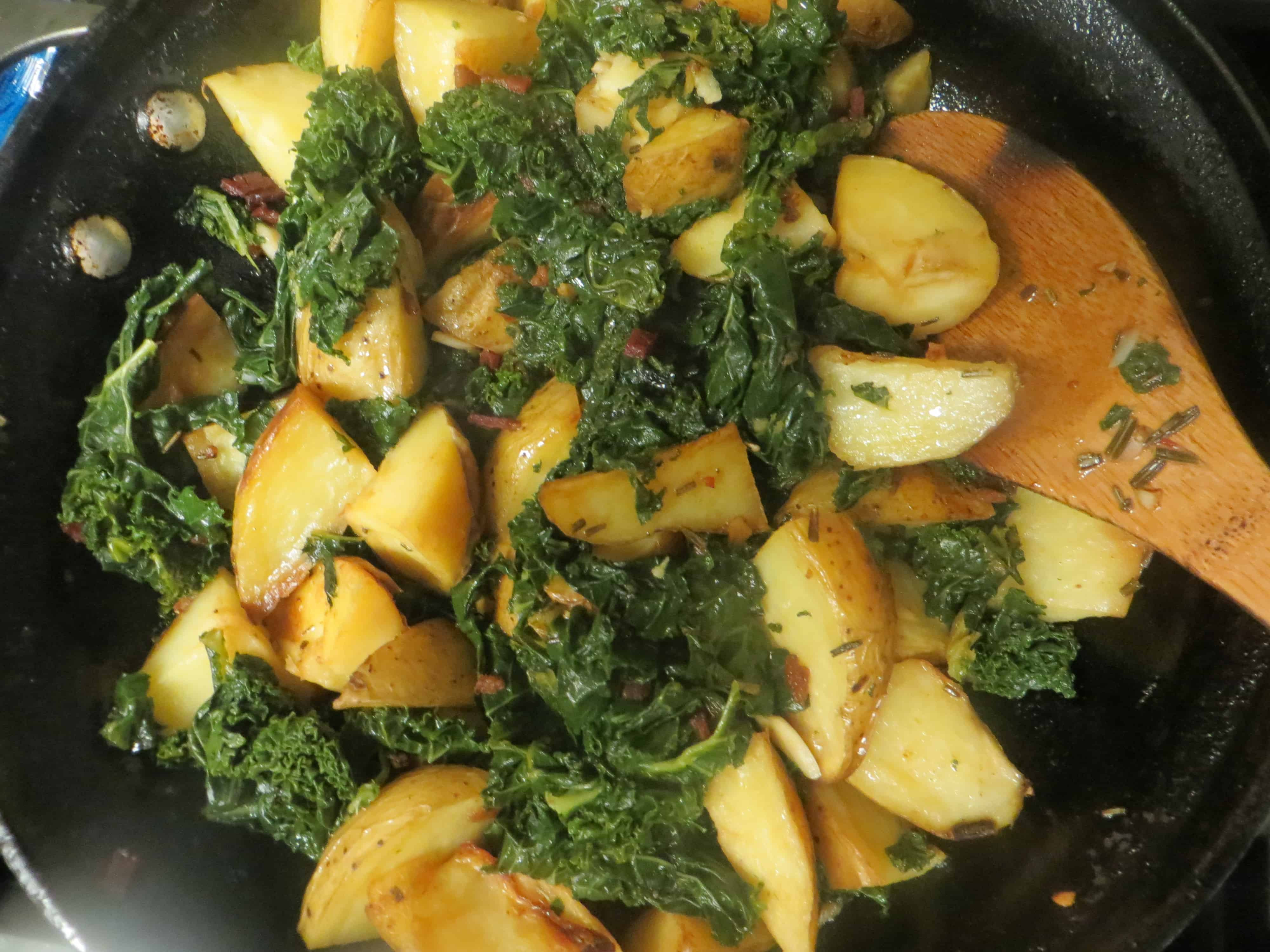 Kale Dinner Recipes  Family friendly kale potato and bacon dinner