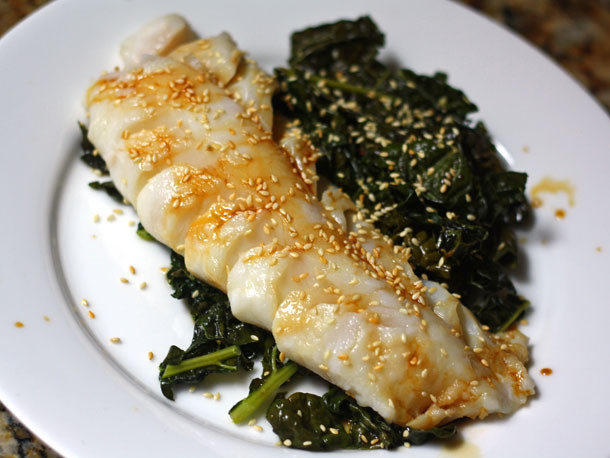 Kale Dinner Recipes  Dinner Tonight e Skillet Cod and Kale With Ginger and