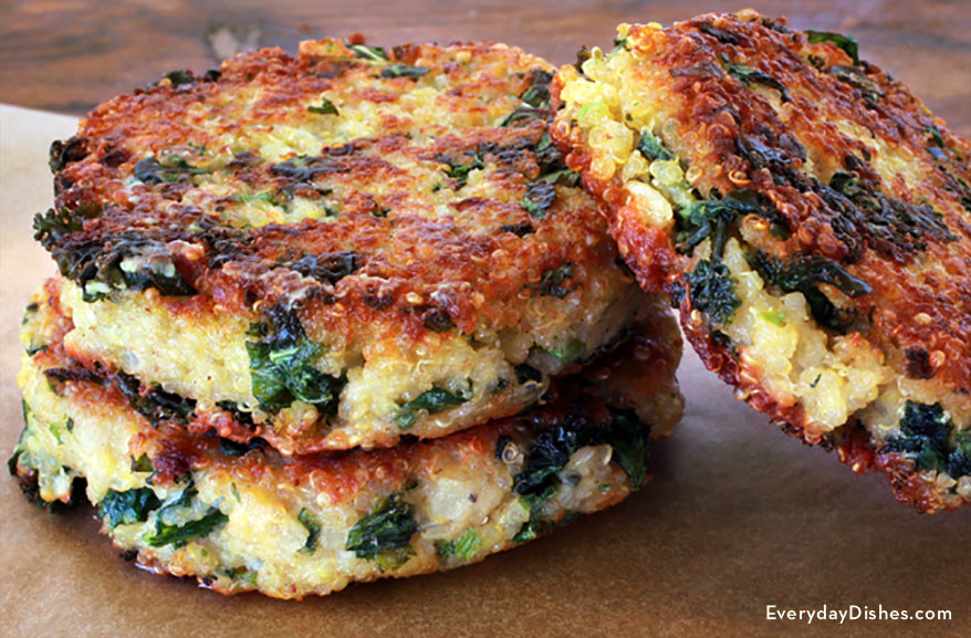 Kale Dinner Recipes  Healthy Kale and Quinoa Patties Recipe
