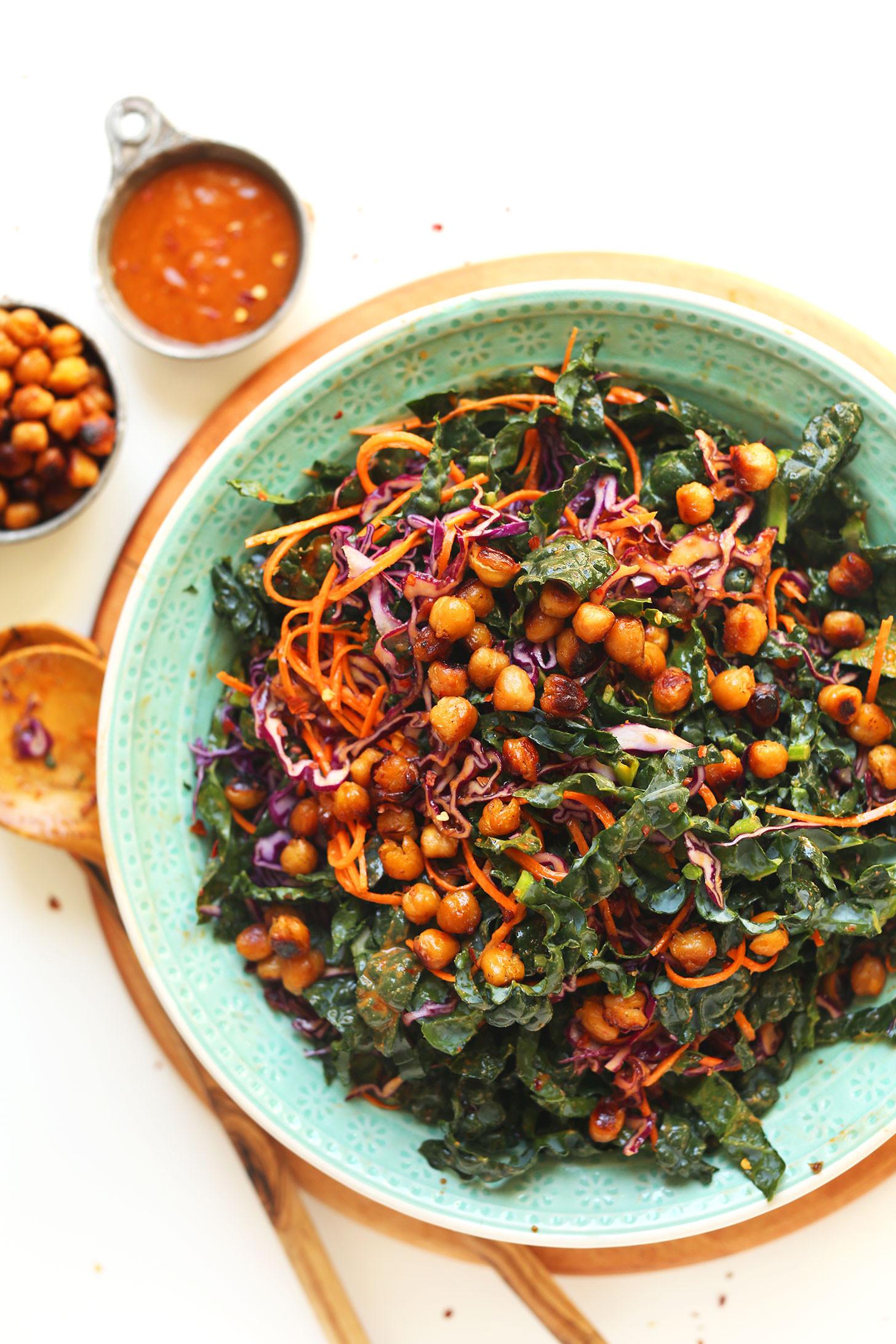 Kale Recipes Vegan  20 minute Asian Kale Salad