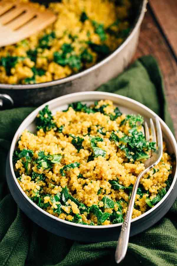 Kale Recipes Vegan  Simple Kale Quinoa Vegan Gluten Free The Veggie Chick