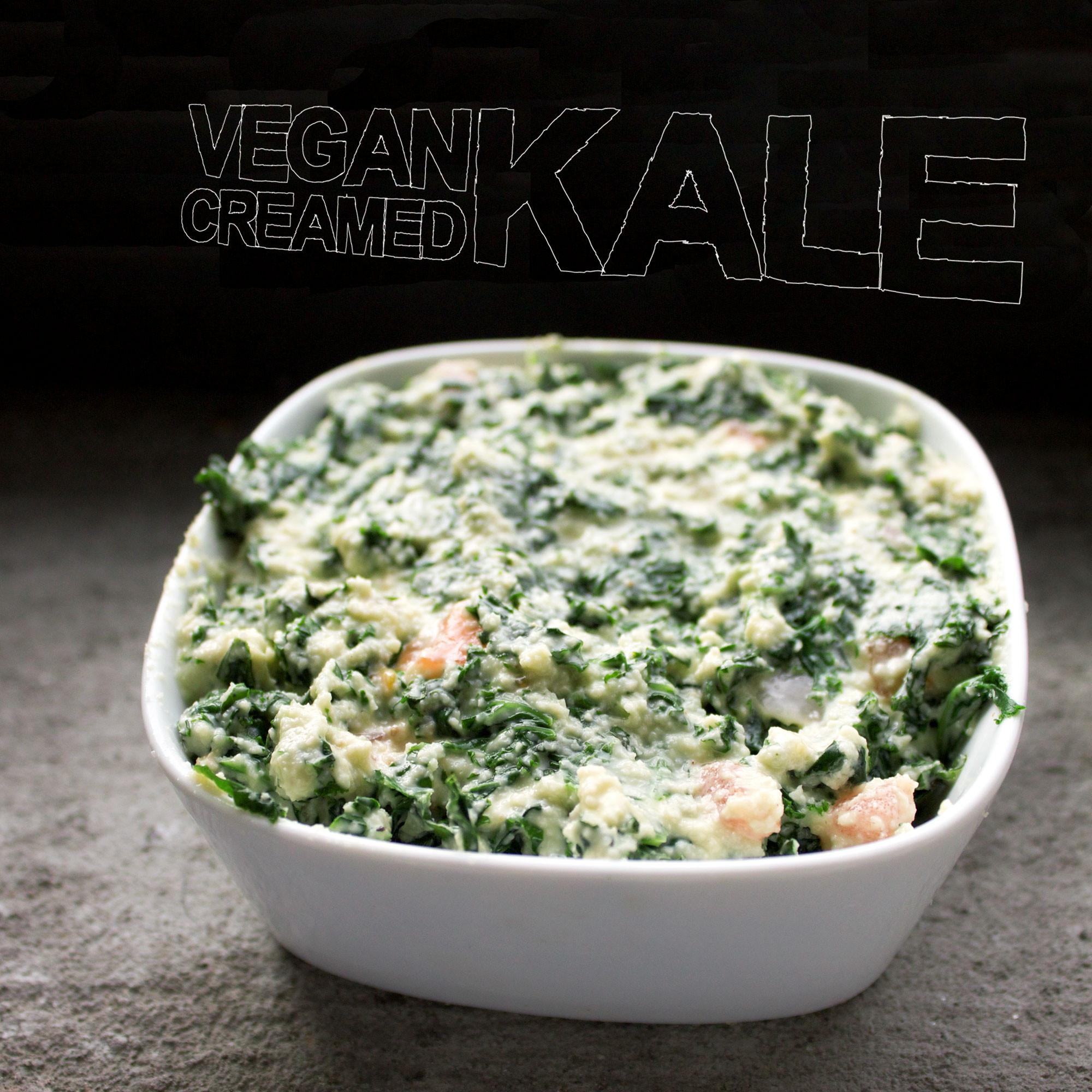Kale Recipes Vegan  Creamed Kale [vegan]