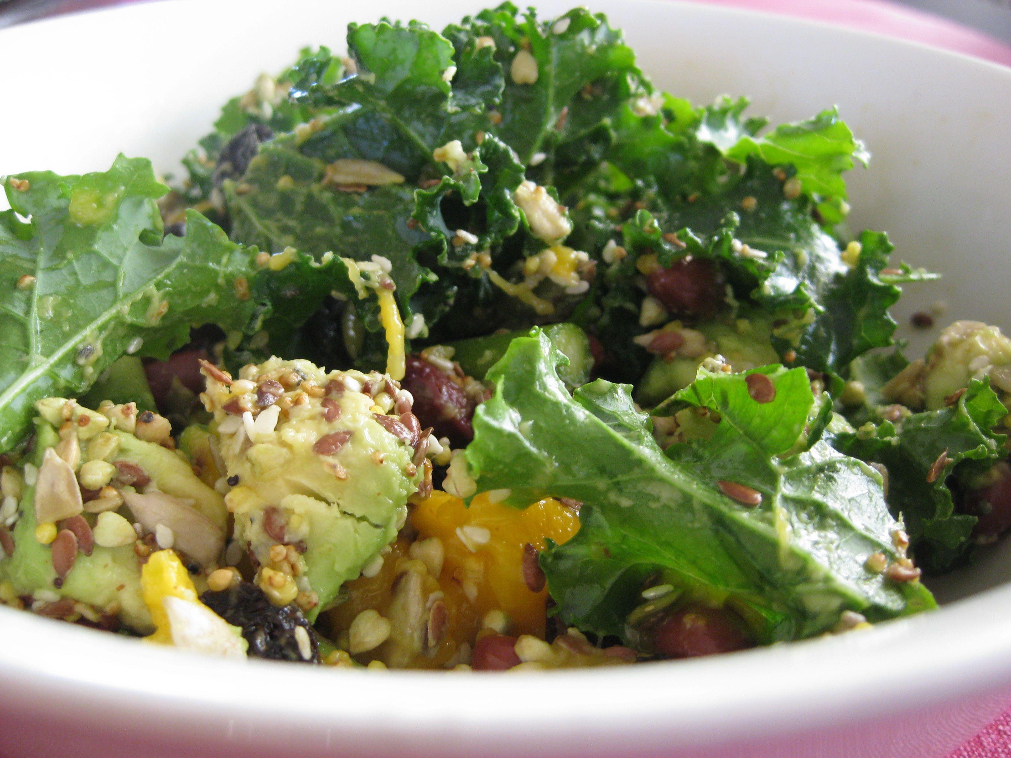 Kale Recipes Vegan  Meatless Mondays Kale Salad