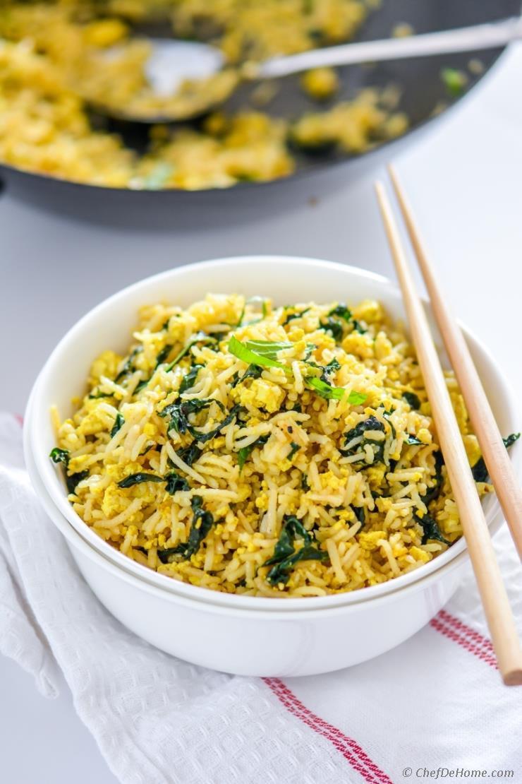 Kale Recipes Vegan  Vegan Tofu Scramble Kale Fried Rice Recipe