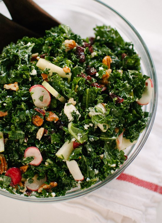 Kale Salad Recipes  Deb s Kale Salad with Apple and Pecans Cookie and Kate