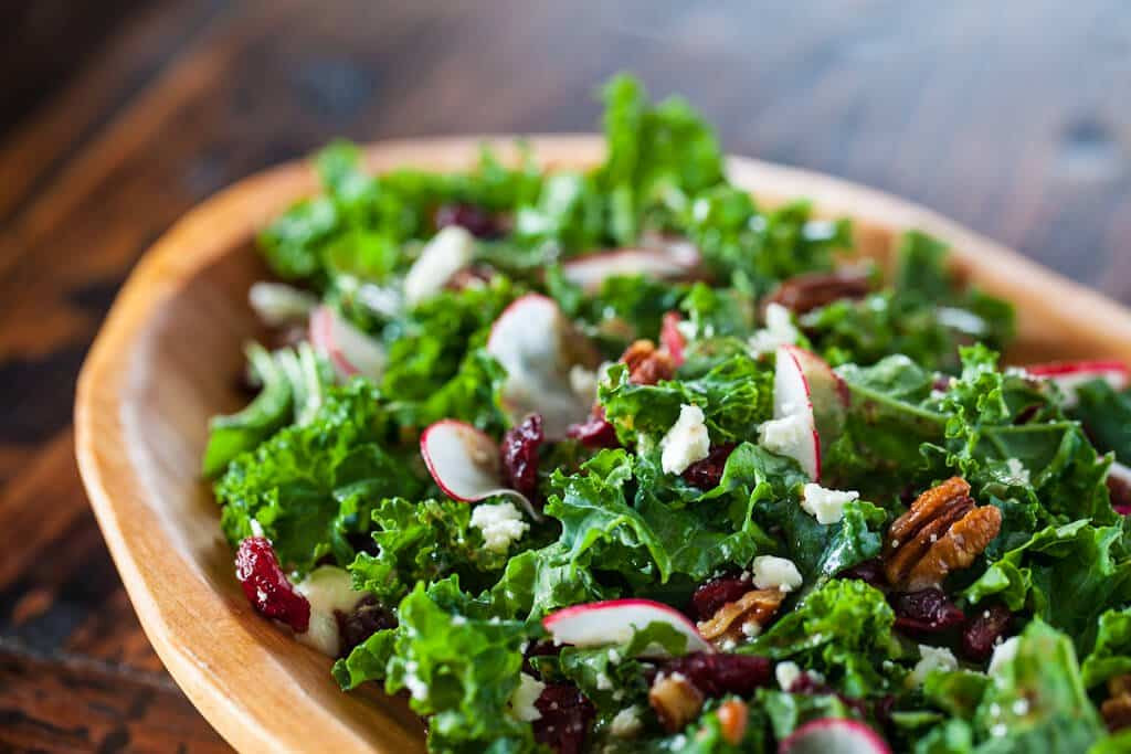 Kale Salad Recipes  Kale Salad with Cherries and Pecans Steamy Kitchen Recipes