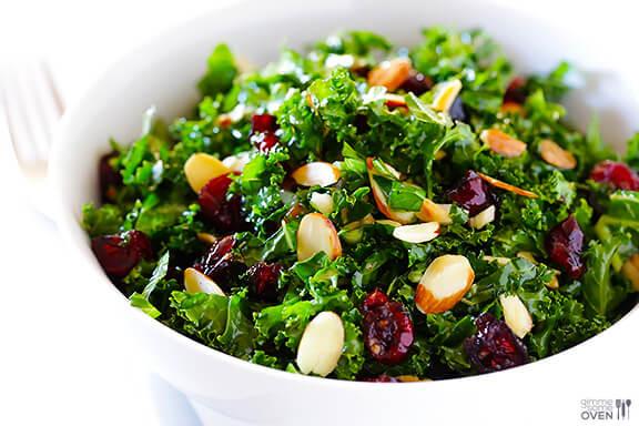 Kale Salad Recipes  Kale Salad with Warm Cranberry Vinaigrette