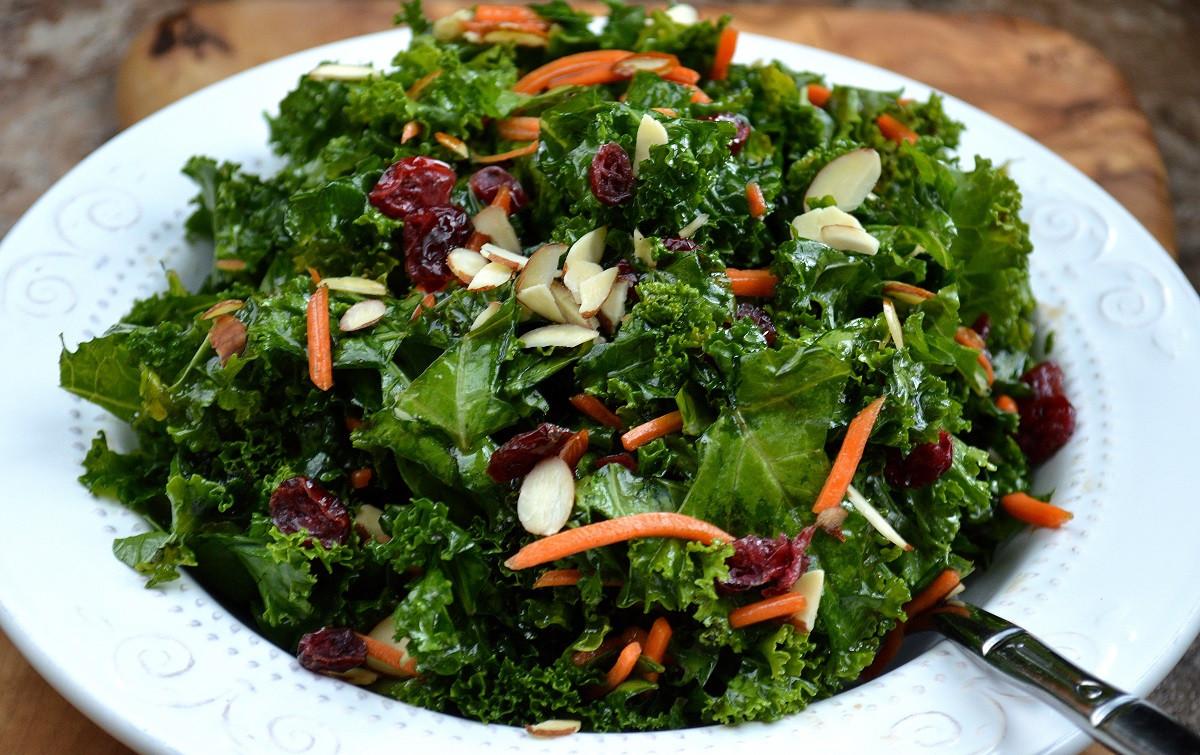 Kale Salad Recipes  Kale Salad with Cranberries & Almonds