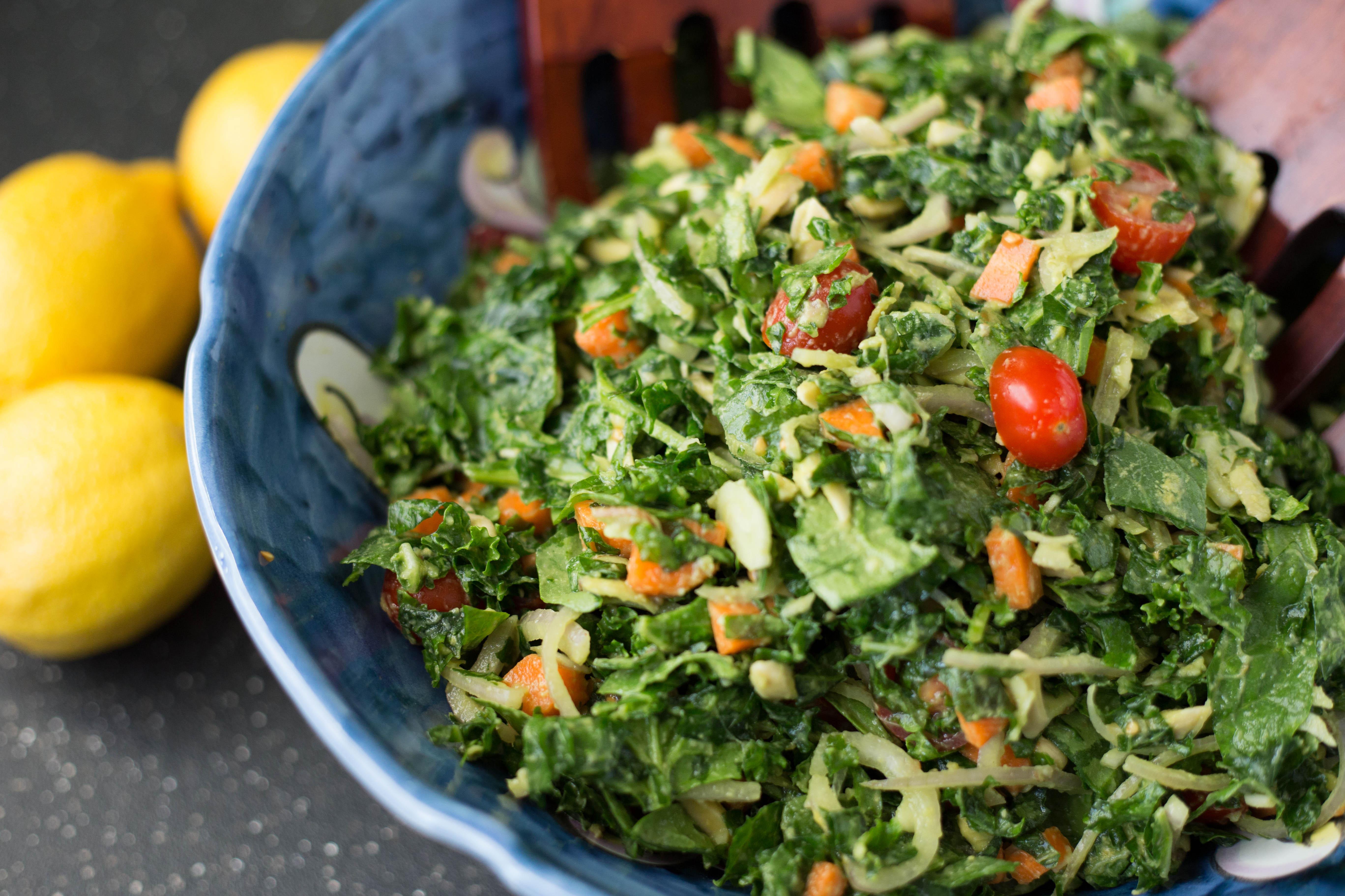 Kale Salad Recipes  Massaged Kale Salad
